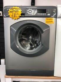 HOTPOINT 8KG DIGITAL SCREEN WASHING MACHINE IN GREY