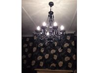 2 Black Chandeliers COLLECTION ONLY