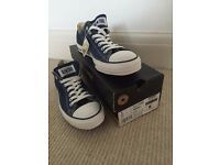 NEVER WORN. FREE DELIVERY. AllStar blue converse. Size 9.