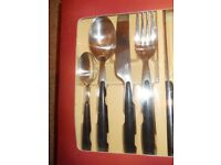 Gourmet's Pride Napoli Stainless Steel 24 piece cutlery set