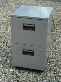 Two draw metal filing cabinat