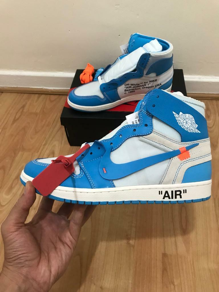 "2fd3e79e2d2 Off White x Air Jordan 1 Retro High OG The Ten""UNC"", Size 10 Uk /11 Us!!New!"
