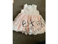 Girls pink dress age 0-3 months