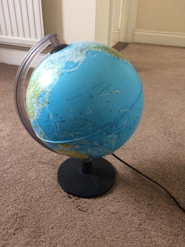 World map globe lamp in minster on sea kent gumtree world map globe lamp gumiabroncs Images