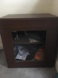 Small Wood Cabinet cube unit