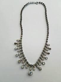 Vintage art deco stoned necklace