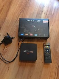 MXQ Pro android Tv box quad core 4K