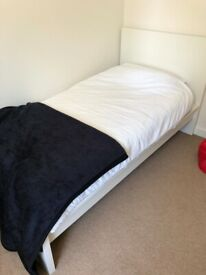 IKEA Single bed - Model Malm + Base + Great Quality Mattress