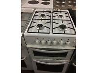 White new world 50cm gas cooker grill & oven good condition with guarantee