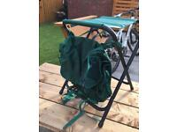 Fishing seat and backpack brand new