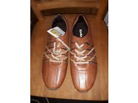 Brown Leather Kicker Shoes