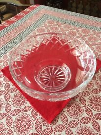 Crystal fruit or trifle bowl