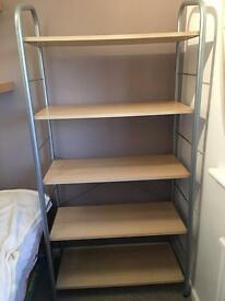 Shelving unit and matching chest of drawers