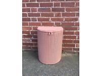 Lovely Lloyd loom dusky pink linen basket