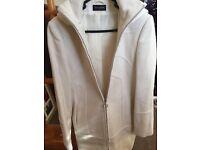 Topshop cream coat size 10