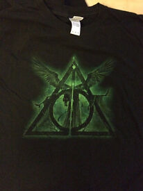 Harry Potter - The Deathly Hallows, Three Brothers Tale mens tshirt XL £5