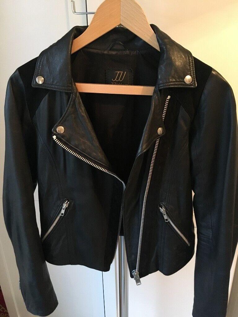 3224d384f49d Womens Black Leather Biker Jacket, size 8-10, handmade | in ...