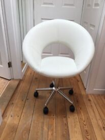 DWELL CIRCLE CHAIRS retro dining / office faux leather