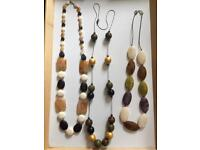 Set of three long necklaces
