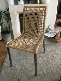 IKEA set of 6 'randor' rattan dining room chairs £80 ono (RRP £50 each)