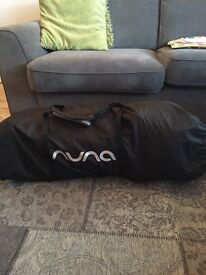 Nuna Sena Travel Cot, Night. Travel cot with bassinet insert, hardly used, carry case, unboxed