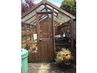 Greenhouse with Integral shed