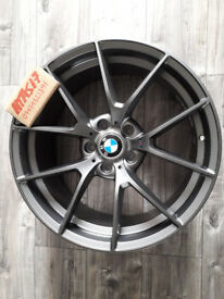 "NEW 19""GREY ALLOYS WHEELS FIT BMW 3 SERIES 4 SERIES M3 M4 ALLOYS GREY M SPORT STAGGERED"
