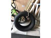 Jungle gym tyre swing