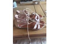 Pink roman sandals size 6