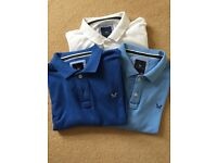 3 x Crew Clothing Polo Shirts x-large