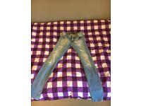 girls levi skinny jeans age 12