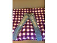 girls levi skinny jeans age 12