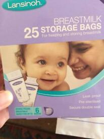 FREE Breast pads and milk storage bags