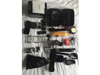 GoPro Hero 4 Black with spare batteries, touchback and full accessory kit