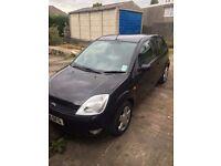 Black Ford Fiesta 04 Plate