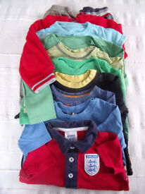Baby boys clothes bundle. Trousers, s/shirt, all-in-ones, t-shirts. 11 items. Age 0-12 months.