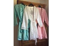 1 bride and 6 bridesmaid dressing gowns unused