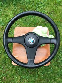 genuine BMW E30 M Tec II sport steering wheel
