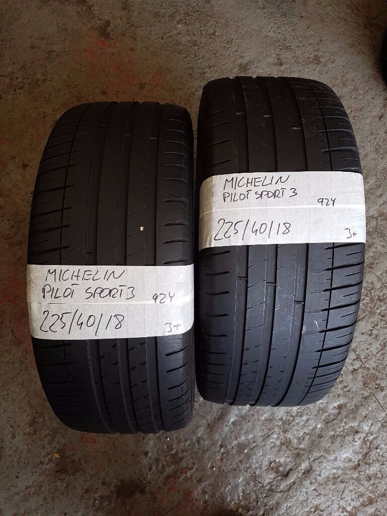 2x TYRES 225 40 18 MICHELIN