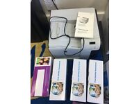 HP colour laser jet printer and 7 x toners (the toners alone come to £210) L@@K!