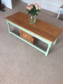 Stunning Upcycled Large Coffee Table and Matching Mirror