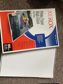 Xerox photo paper high gloss 180gm 35 x A4