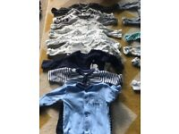 Large bundle of baby boy tiny baby clothes-over 100 items
