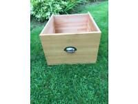 Solid White Oak/Pine Large Wooden Storage Drawer Box with Handle Toy Box