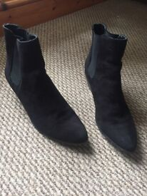 Black ankle boots by next