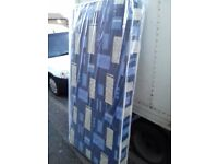 Brand New Single Padded spring Mattress in blue FREE Delivery 2 Available
