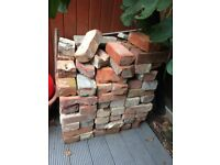 Reclaimed, old original red bricks