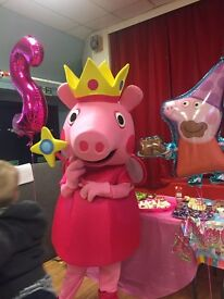Princess Peppa Pig and Poppy Troll Lookalike Mascots for hire