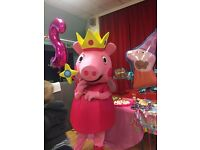 Princess Peppa Pig Lookalike Mascot for hire
