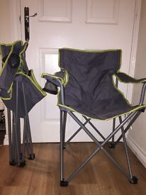 2x foldable camping chairs